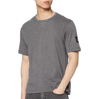 Calvin Klein Mid Grey Monogram Badge T-Shirt