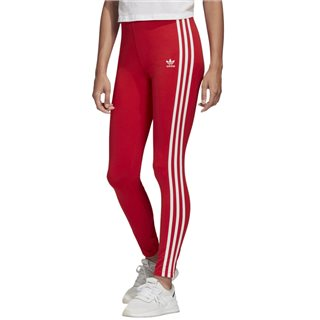 adidas Originals Red Adicolour 3-Stripes Leggings