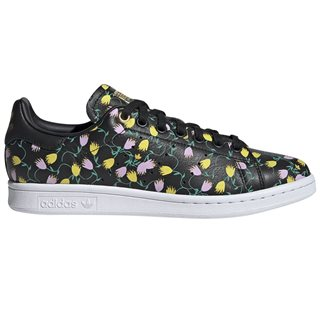 adidas Originals Black/Floral Stan Smith Trainers