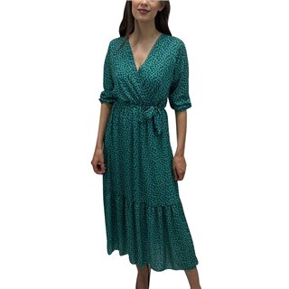 Kate & Pippa Green Boho Wrap Midi Dress