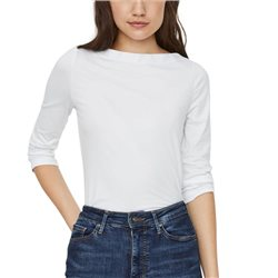 Vero Moda White Boatncekline 3/4 Sleeved Top