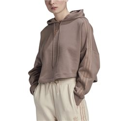 adidas Originals Trace Brown Cropped Hoodie