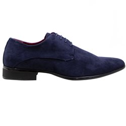 Marcozzi Navy Suede Formal Shoe