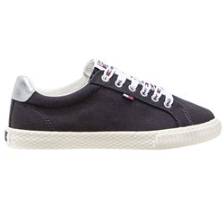 Tommy Hilfiger Navy Cotton Low Top Women's Trainers