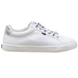 Tommy Hilfiger Footwear White Cotton Low Top Women's Trainers