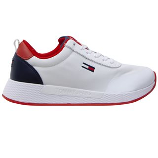 Tommy Hilfiger White Essential Mixed Panel Women's Trainers