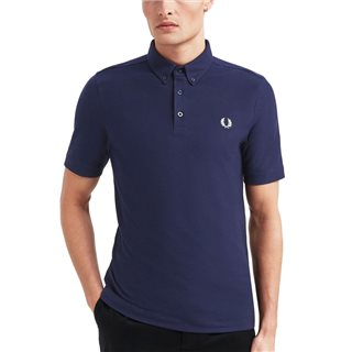 Fred Perry Carbon Blue Button Down Polo