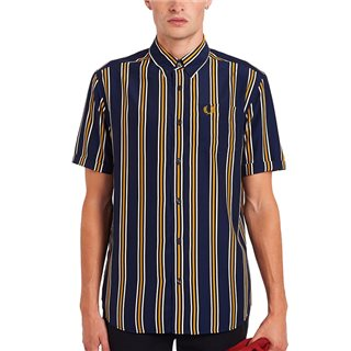 Fred Perry Carbon Blue Vertical Stripe Shirt