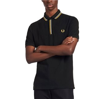 Fred Perry Black Tipped Placket Polo Shirt