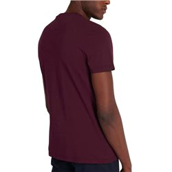Lyle & Scott Burgundy Contrast Pocket T-Shirt