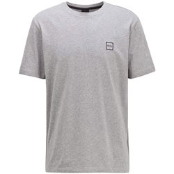 BOSS Light Grey Single Jersey Cotton T-Shirt