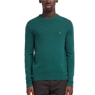 Farah Emerald Green Rosecroft Lambswool Jumper