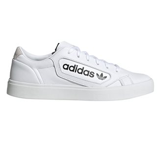 adidas Originals White Sleek Trainers