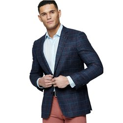 Magee 1866 Blue Check Donegal Tweed Classic Fit Blazer
