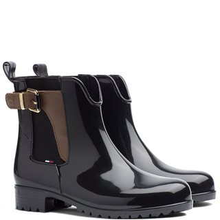 Tommy Hilfiger Footwear Black Buckled Wellies