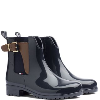 Tommy Hilfiger Footwear Navy Buckled Wellies