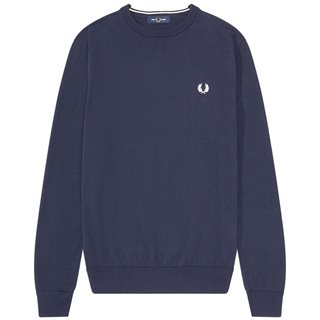 Fred Perry Navy Classic Crew Neck Jumper