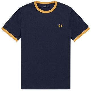 Fred Perry Carbon Blue Ringer T-Shirt