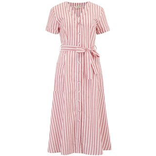 Sugarhill Brighton Off White/Red Evelina Deck Stripe Midi Dress