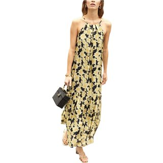 FRNCH Paris Black/Gold Annea Maxi Dress