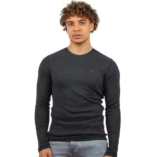 Tommy Jeans Black Long Sleeve Organic Cotton T-Shirt