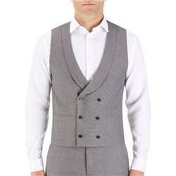 Skopes Silver Double Breasted Waistcoat