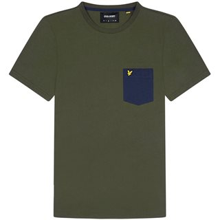 Lyle & Scott Trek Green Contrast Pocket T-Shirt