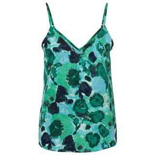Vero Moda Mint Leaf Green Button Singlet