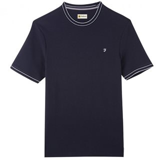 Farah Jeans True Navy Liverpool Honeycomb T-Shirt