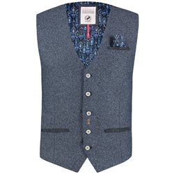 Fish Named Fred Blue Structured Waistcoat