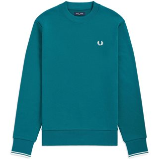Fred Perry Light Petrol Crew Neck Sweater