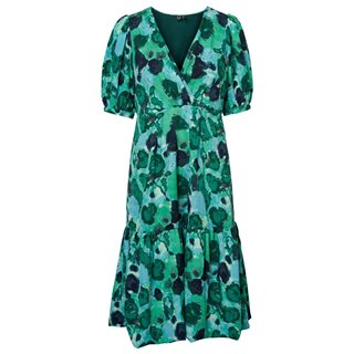 Vero Moda Mint Leaf Waleria Bubble Hem Dress