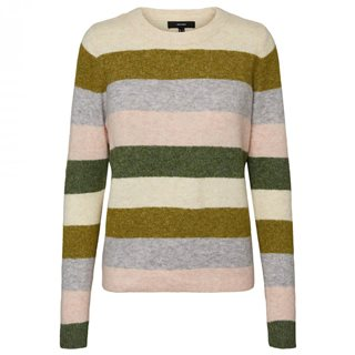 Vero Moda Black Forest Stripped Knitted Jumper