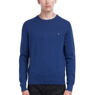Farah Ultramarine Mullen Cotton Jumper