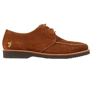 Farah Cognac Ronnie Suede Shoes