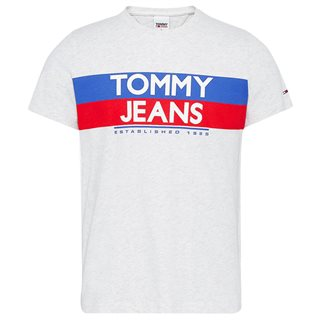 Tommy Jeans Silver Grey 1985 Logo Slim T-Shirt