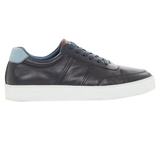 Remus Uomo Navy Dion Leather Trainers