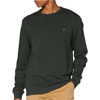 Deep Olive Tim Cotton Crew Neck Sweatshirt