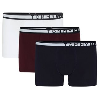 Tommy Accessories White/Burgundy/Sky Statement 3-Pack Trunks