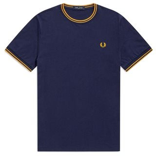 Fred Perry Carbon Blue Twin Tipped T-Shirt