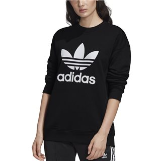 adidas Originals Black Trefoil Women's Crew Sweatshirt