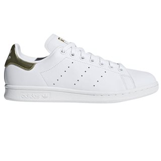 adidas Originals White/Gold Women's Stan Smith Trainers