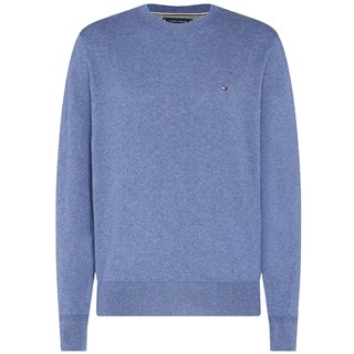 Tommy Hilfiger Faded Indigo Cotton Cashmere Sweater
