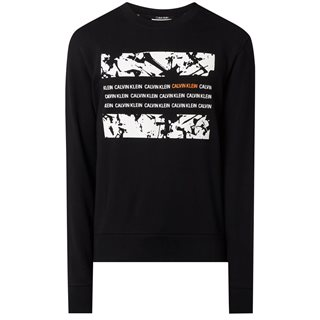 Calvin Klein Black Graphic Box Sweater