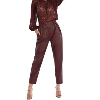 Closet London Burgundy Pleated Trousers