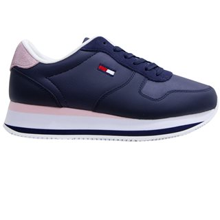Tommy Hilfiger Navy Colour-Blocked Flatform Trainers