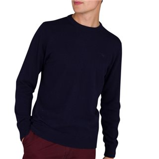 Magee 1866 Navy Lunnaigh Lambswool Jumper