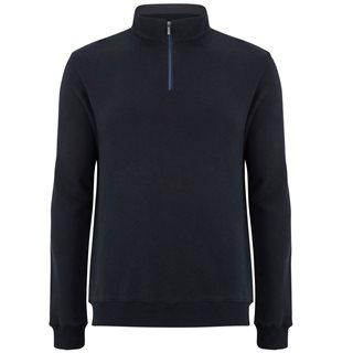 Benetti Navy George Zip-Up Knit