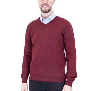 Benetti Flame Merino Wool V-Neck Knit