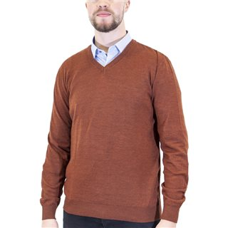 Benetti Earth Merino Wool V-Neck Knit